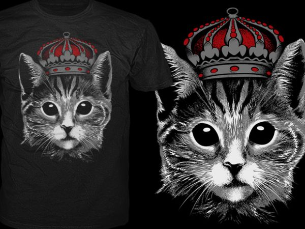 King Cat t shirt vector art