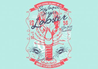 Lobster buy t shirt design