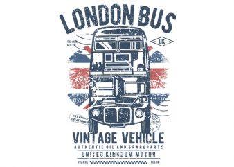London Bus buy t shirt design
