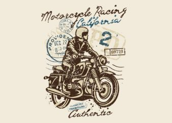 Motorcycle Racing buy t shirt design