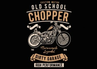 Old School Chopper t shirt design online