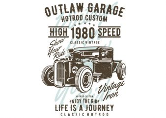 Outlaw Garage t shirt template
