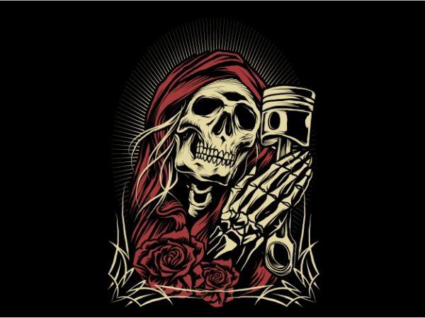 Pray Skull t shirt illustration