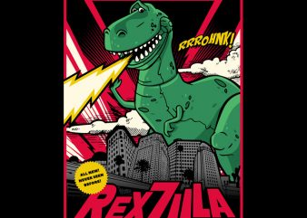 REXZILLA buy t shirt design