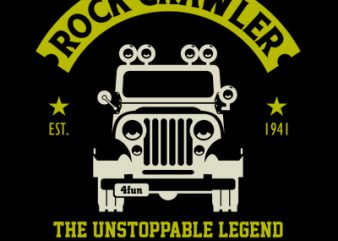 ROCK CRAWLER t shirt template