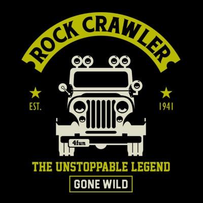 ROCK CRAWLER t shirt design online