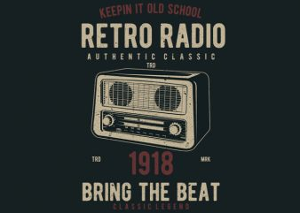 Retro Radio t shirt design online