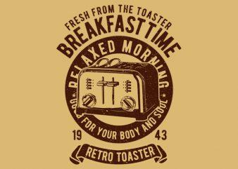 Retro Toaster t shirt design online