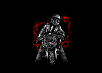 Ride to Hell t shirt template