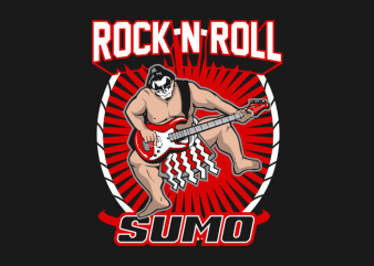 Rock n Roll Sumo t shirt design online