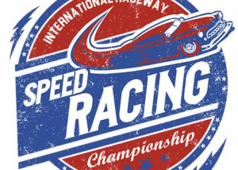 SPEED RACING t shirt template vector
