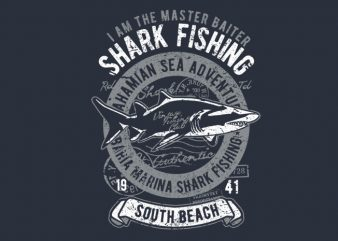 Shark t shirt template vector