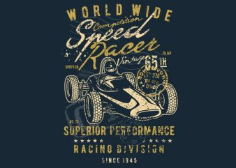Speed Racer Vintage t shirt template vector