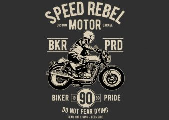 Speed Rebel Motor t shirt template vector