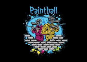 Pintball vector t-shirt design