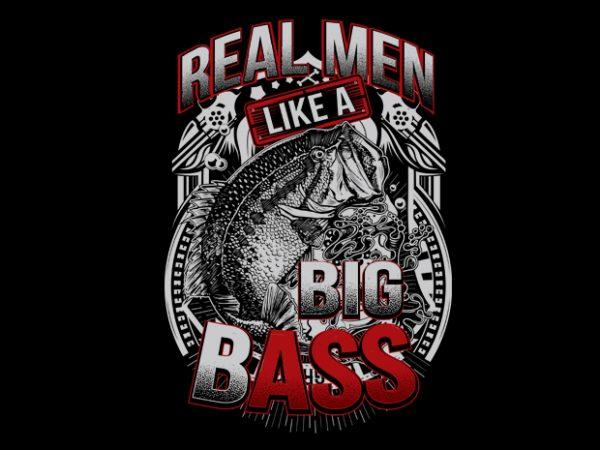 big bass 2 Vector t-shirt design