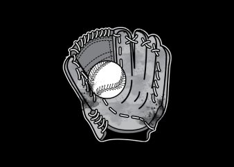 Baseball Glove Vector t-shirt design t shirt template