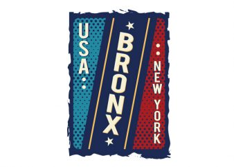 Usa Bronx New York t shirt template