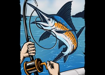 Marlin Fishing buy t shirt design