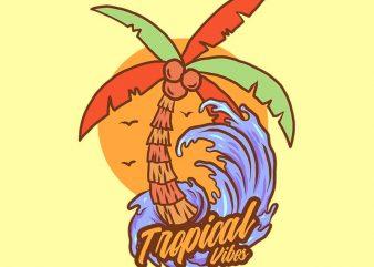 coconut tree tshirt design buy t shirt design