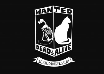 Wanted Dead Or and Alive t shirt design for sale