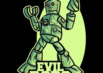 evil robo tshirt design buy t shirt design