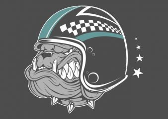 bulldog wearing helmet t shirt template