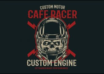 caferacer t shirt vector file
