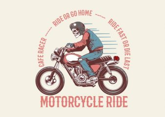 vintage motorcycle t shirt vector art