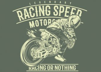 racing speed t shirt design online