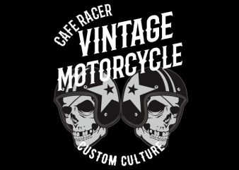 vintage motor cycle t shirt vector art
