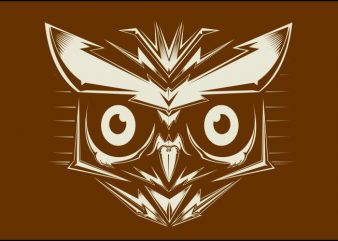 head off owl graphic t shirt