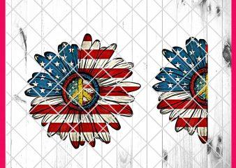 Flower America Flag Design PNG T shirt 4th of July | Daisy America Flag, Sunflower America Flag T shirt Design t shirt template