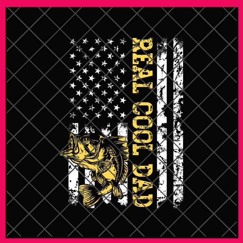 888bc421 Fishing Reel Cool Dad America Flag Fish 4th of July PNG design T shirt buy t