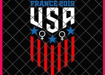 France 2019 USA Womens Team Soccer 2019 T shirt Desin PNG