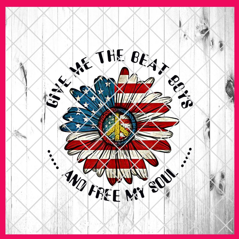 Give me the beat boys and free my soul flower designs PNG T shirt