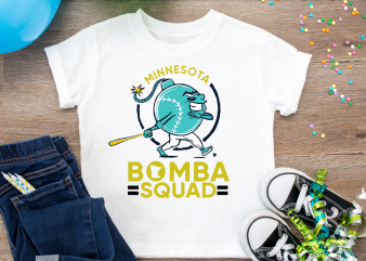 Bomba Squad Minnesota funny Softball Baseball bomb Funny T shirt Design PNG