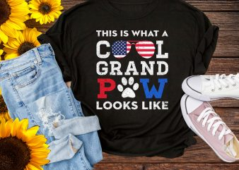 Cool Grand Paw Dog America Flag Funny Design T shirt Gifts Grandpa Lover Dog