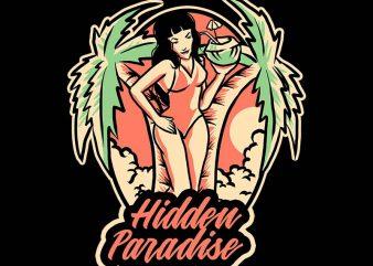 hidden paradise tshirt esign buy t shirt design