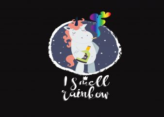 I Smell Rainbow t shirt design for sale