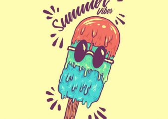 summer ice cream tshirt design