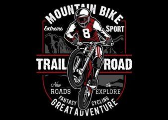 Mountain Bike t shirt vector