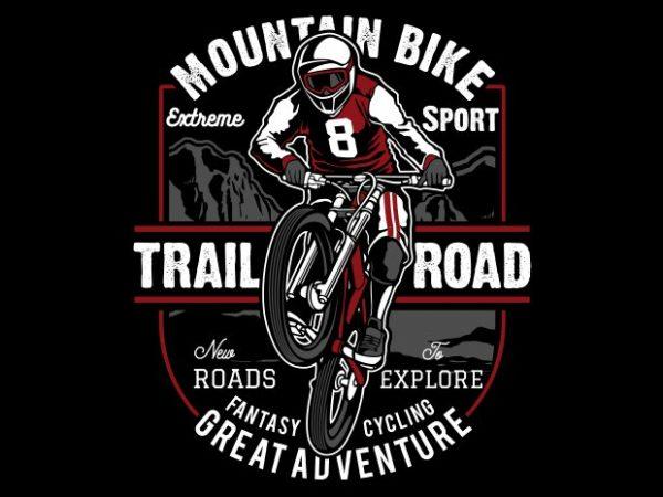 Mountain Bike t shirt designs for sale