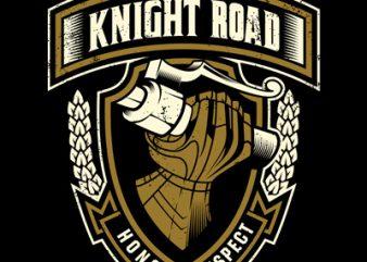 Knight Road t shirt vector art