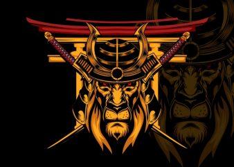 The Last Lion Samurai t shirt designs for sale