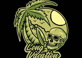 long vacation tshirt design