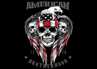 American Brotherhood 1776 t shirt vector