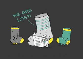 We are Lost socks buy t shirt design