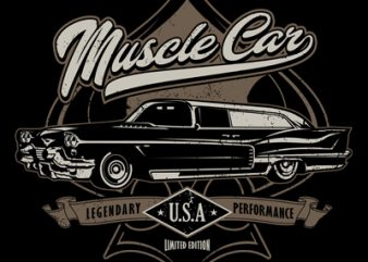 MUSCLE CAR buy t shirt design