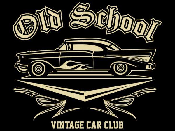 OLD SCHOOL t shirt design online